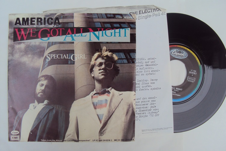 America We got all Night Special Girl Capitol 1C0062003487 Single