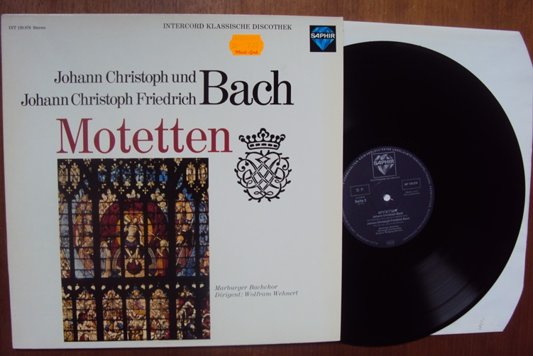 Bach Motetten Wehnert Intercord INT 120.876 Christoph Johann
