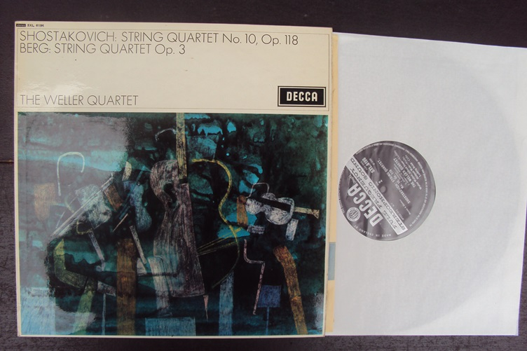 Shostakovich Berg Weller Quartet The Shostakovich String Quartet No10 Op 118 Berg String Quartet Op