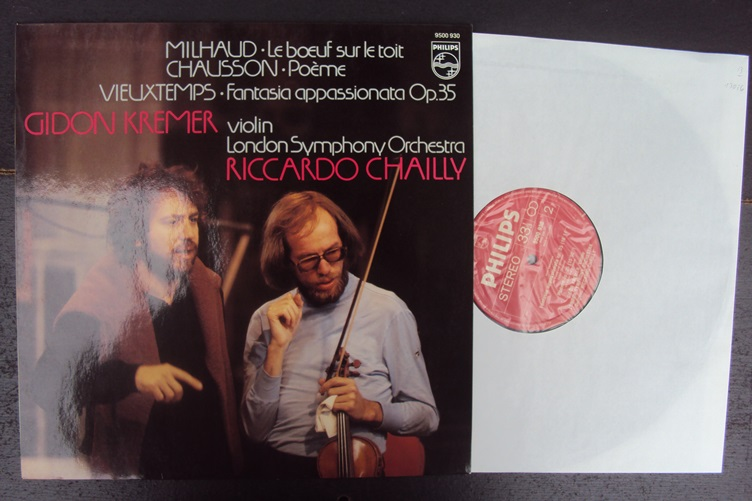 Milhaud Chausson Vieuxtemps Kremer Chailly Philips 9500930 Vinyl