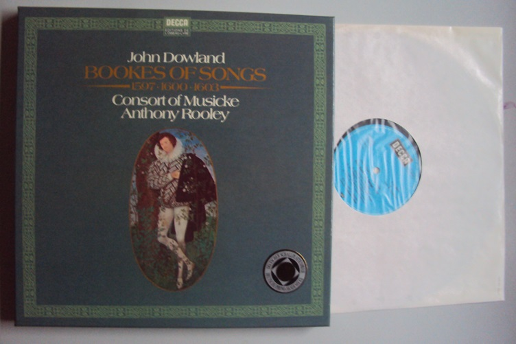 John Dowland Bookes of Songs Consort Musicek Rooley Decca 6.35484