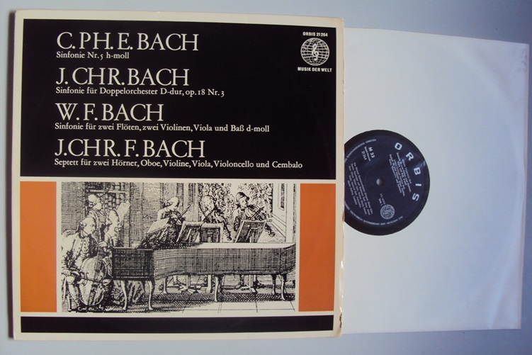 Bach Carl Philipp Emanuel Christian Friedemann Johann Friedrich LP