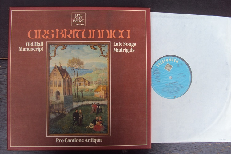 Ars Britannica Old Hall Manuscript Madrigals Lute Songs Cantione Box