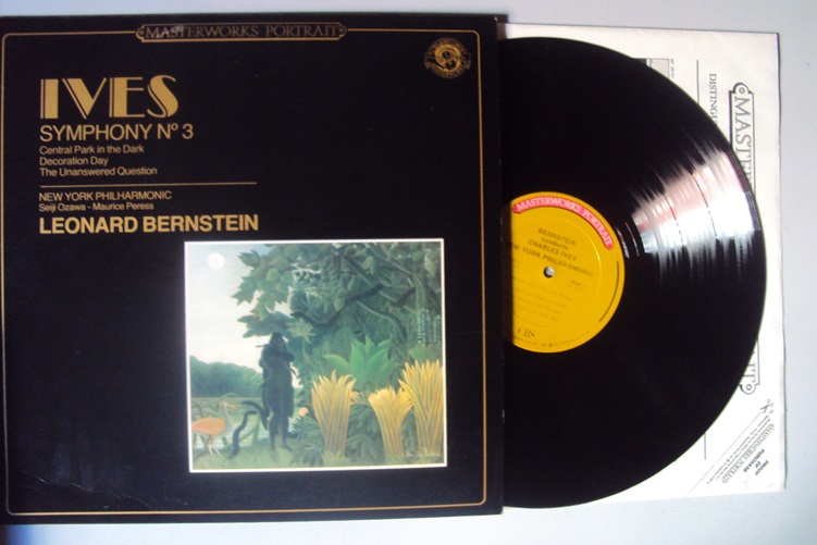 Ives Symphony 3 Bernstein CBS Central Park Dark Decoration Day Vinyl