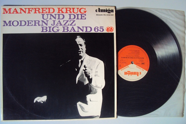 Manfred Krug Modern Jazz Big Band 65 Amiga 850057 Klaus Lenz Vinyl