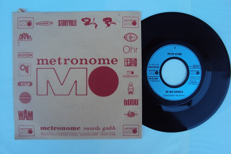 Peter Stern Somme Sonne So wie damals Metronome M 25.450 Singles