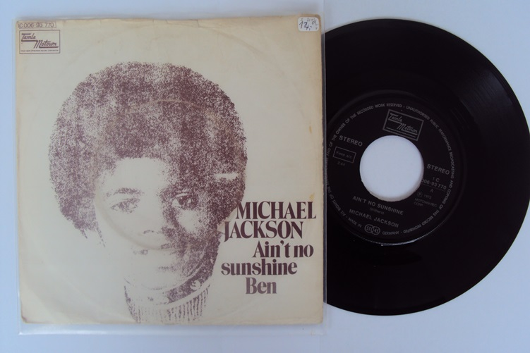 Michael Jackson Ain't no sunshine Ben 7 Inch Single Motown Tamla